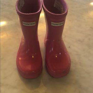 Toddler pink hunter boots